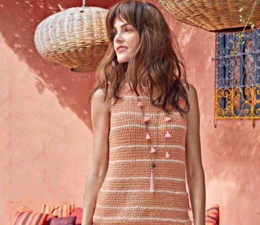 Летний костюм в нежных тонах: юбка и топ спицами схема вязания спицами с подробным описанием