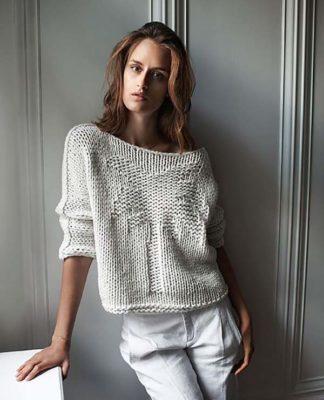 Пуловер с пальмой спицами схема вязания спицами с подробным описанием