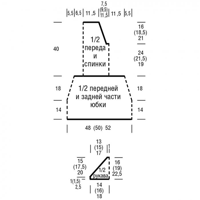 Вязаное платье спицами с юбкой в складку схема вязания спицами выкройка с подробным описанием