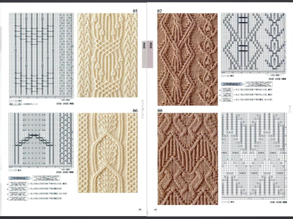 Вязание крупные ромбы спицами и жгуты красивые переплеты 36