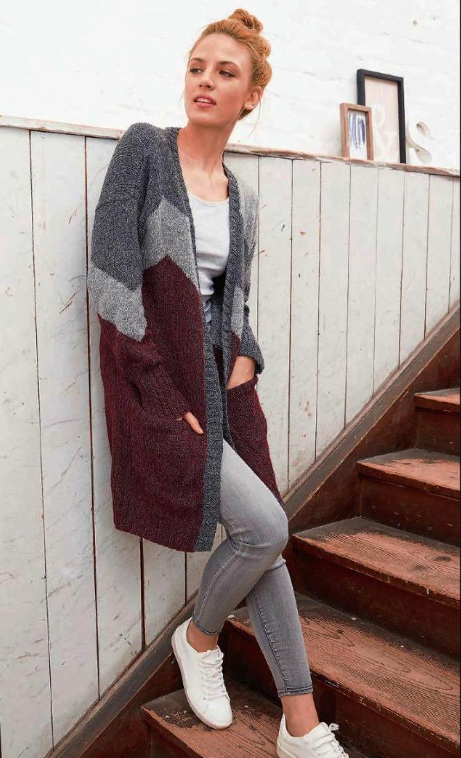 Кардиган спицами с накладными карманами схема вязания спицами с подробным описанием для женщин спицами