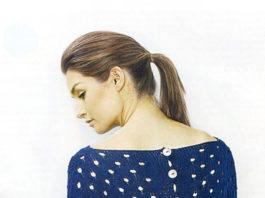 Жакет спицами дырявым узором с застежкой на спине схема вязания спицами с подробным описанием