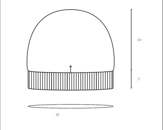 Шапка спицами SKIFF БРУКЛИН размеры шапки