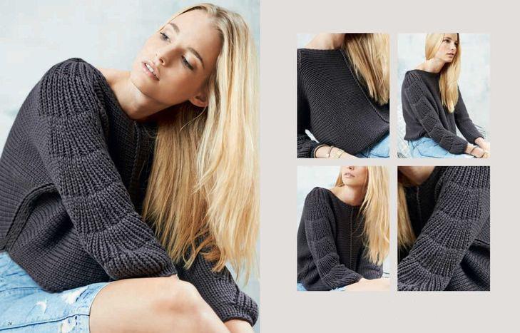 Вязаный пуловер спицами с рукавами кимоно схема вязания с подробным описанием больше фото