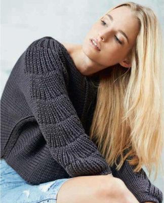 Вязаный пуловер спицами с рукавами кимоно схема вязания с подробным описанием для женщин спицами