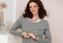 Платье-пуловер спицами в продольно-поперечную резинку схема вязания спицами с подробным описание для женщин бесплатно
