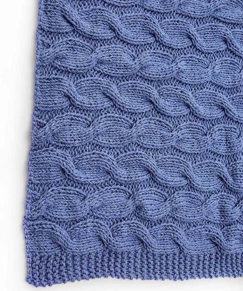 """Плед спицами с косами """"Волны моря"""" схема вязания с подробным описанием"""