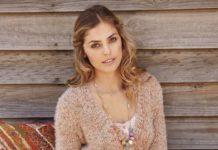 Пуловер с запахом спицами на поясе схема вязания спицами с подробным описанием для женщин бесплатно