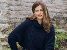 Стильный пуловер спицами с рукавом летучая мышь свитер с подробным описанием для женщин бесплатно