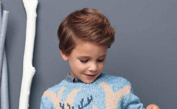 Пуловер спицами для мальчика с оленем схема вязания спицами с подробным описанием