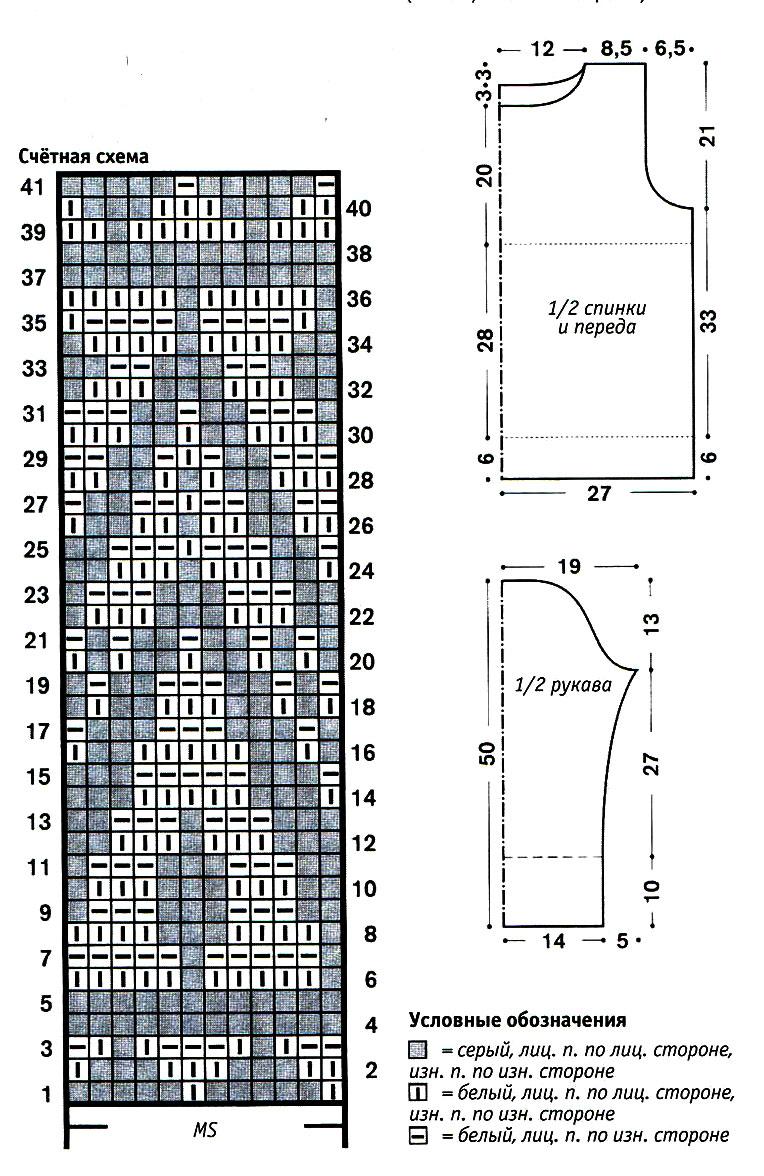 Серый свитер спицами с воротником хомут и бахромой на рукавах выкройка схема вязания