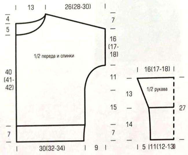 Стильный свитер со швами наружу - модель оверсайз выкройка