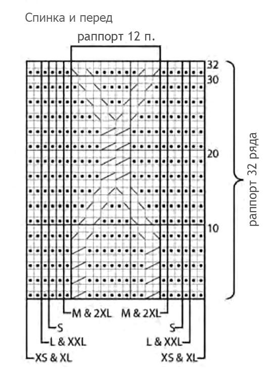 Мужской свитер спицами с узором соты схема вязания узора