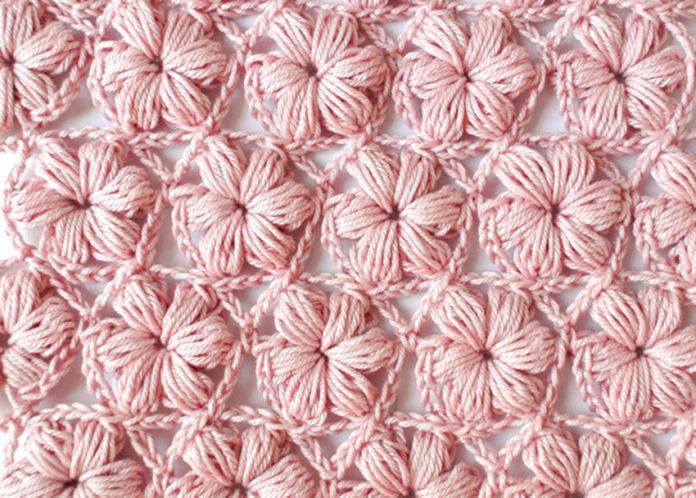 Объемные цветочки крючком из пышных столбиковОбъемные цветочки крючком из пышных столбиков