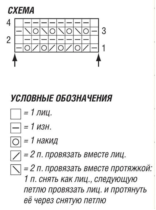 Жакет спицами с имитацией кармана с клапаном схема вязания и условные обозначения
