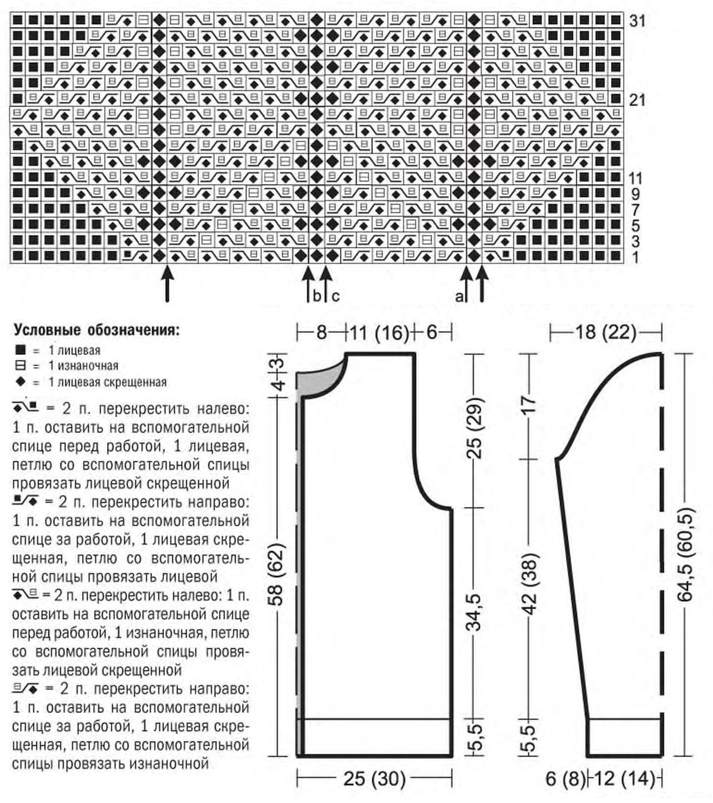 Мужской жакет спицами с рельефным узором на молнии схема вязания с подробным описанием