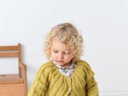 Кардиган для девочки спицами на круглой кокетке схема вязания с подробным описанием