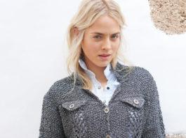 Жакет спицами с имитацией кармана с клапаном схема вязания с подробным описанием для женщин бесплатно