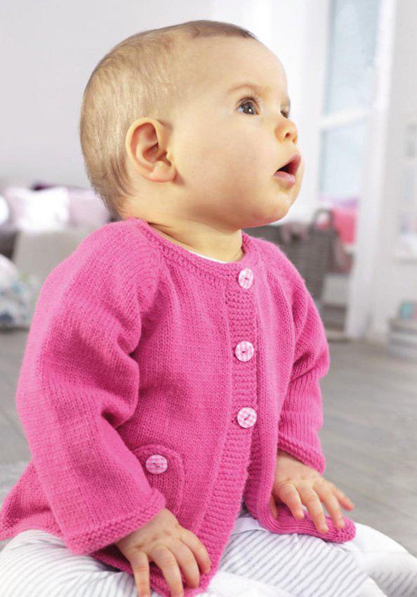 Розовый кардиган для девочки, связанный спицами схема вязания с подробным описанием