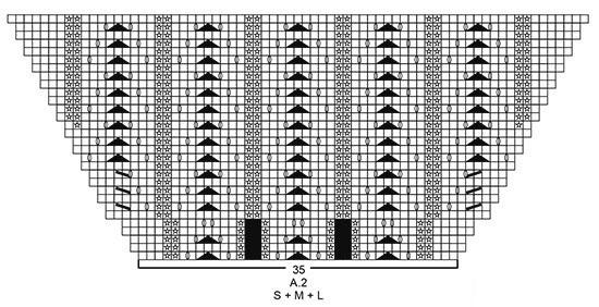 Летний джемпер спицами с баской в скаладку схема вязания узора для баски