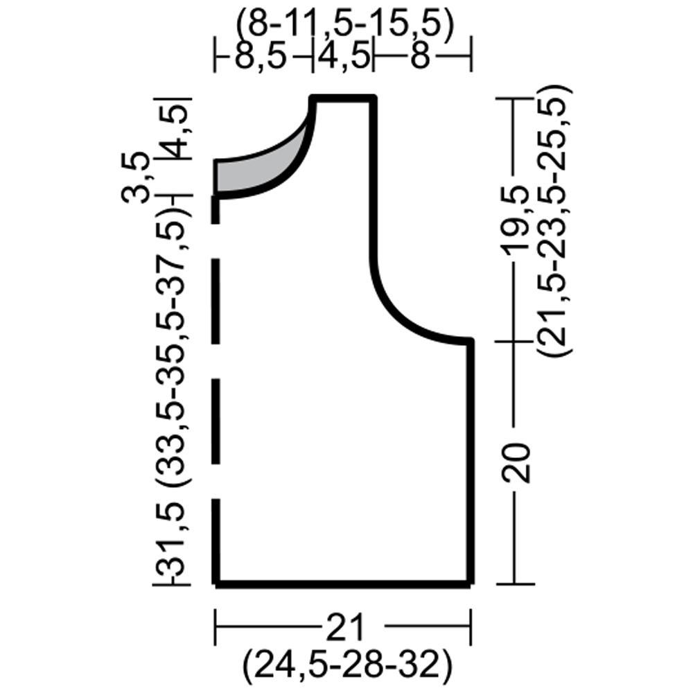 Короткий топ спицами ажурным узором выкройка
