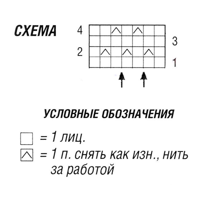 Оранжевый топ на бретелях спицами схема вязания условные обозначения