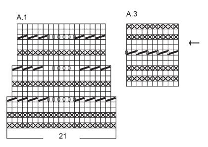 Летняя кофточка спицами расклешенная к низу с ажурным узором схема вязания спицами