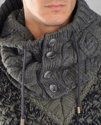 Мужской снуд-капюшон спицами схема вязания с подробным описанием