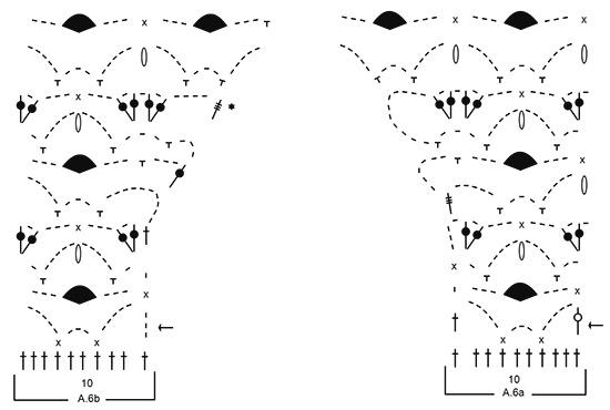 Ажурный топ крючком нежно-голубого цвета схема вязания топа
