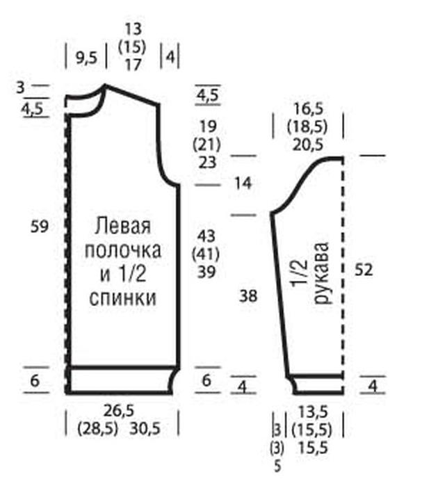 Удлиненный жакет с узором из протяжек выкройка для жакета
