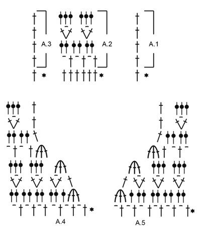 Летний джемпер крючком светло-бежевый схема вязания узора
