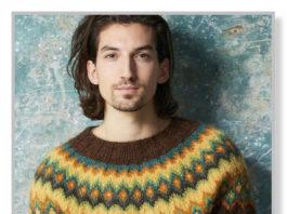 схема вязания лопапейсы для мужчин спицами