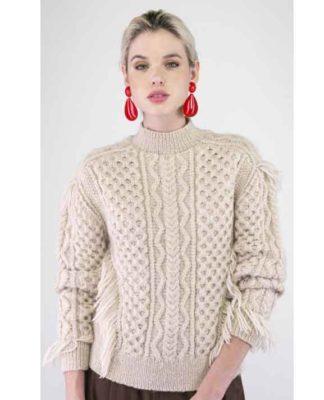Пуловер спицами с узором из кос и аранов схема вязания с подробным описанием