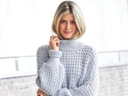 Женский свитер оверсайз удлиненный схема вязания с описанием