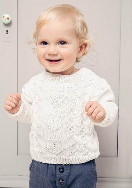 Схема вязания детского пуловера спицами с подробным описанием