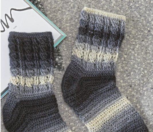 Носки крючком с косами схема вязания с подробным описанием