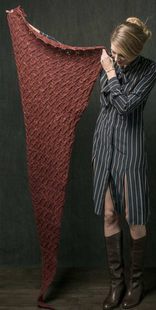 платок спицами схема и описание