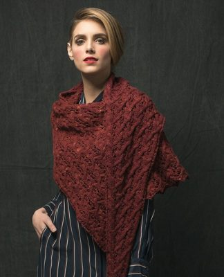Вязаная шаль спицами с плетенным узором схема вязания с подробным описанием