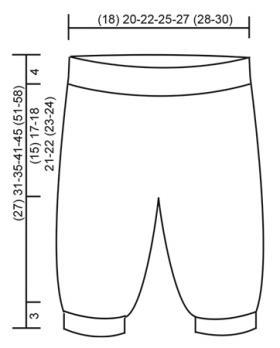 Бесшовные штанишки для новорожденного спицами выкройка