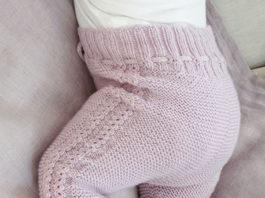 Бесшовные штанишки для новорожденного спицами схема вязания с подробным описанием