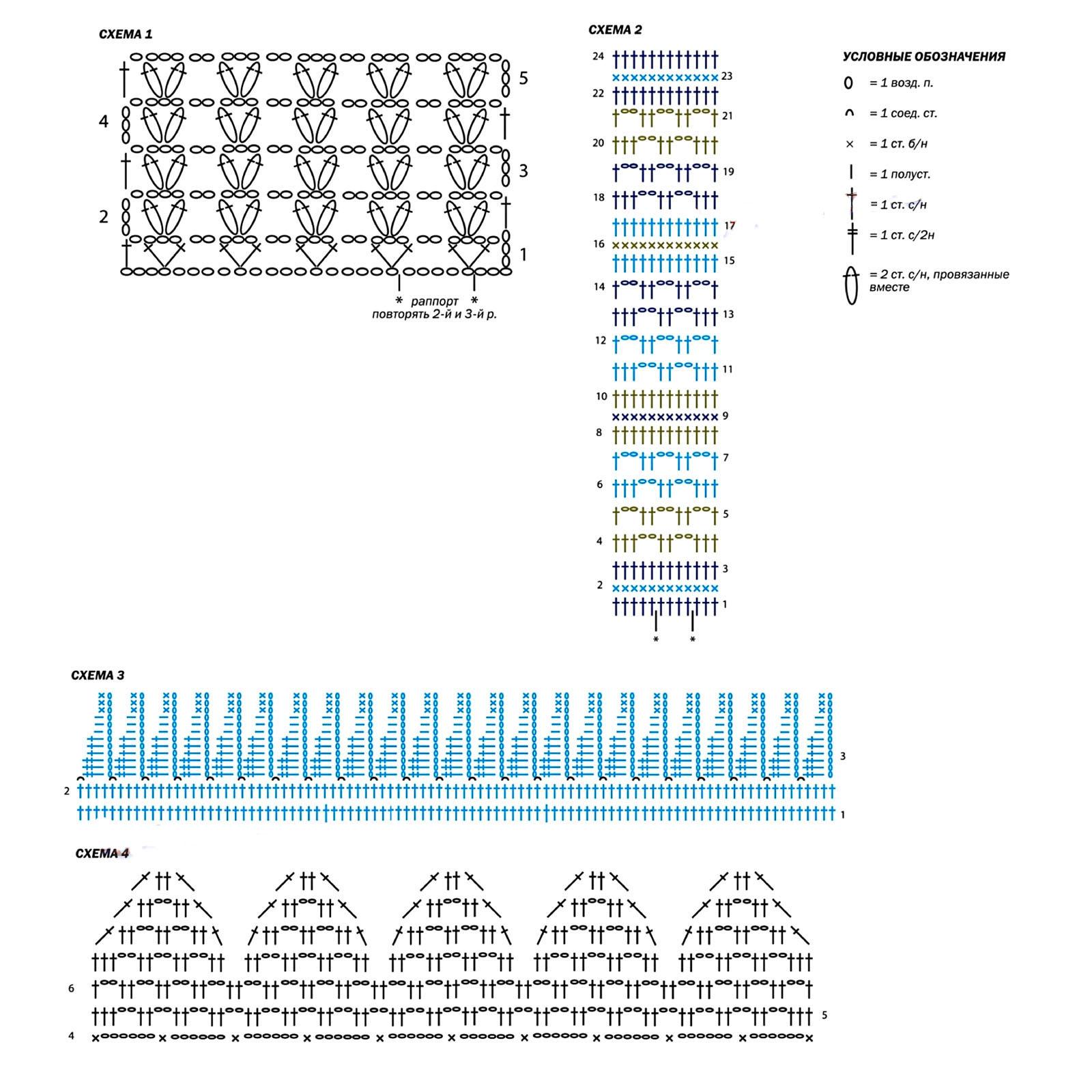 Фантазийный летний топ крючком схема вязания с подробным описанием