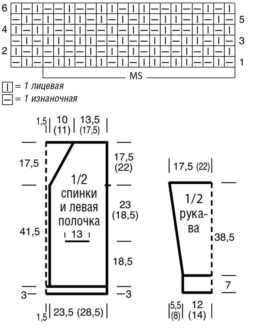 Вязаный кардиган спицами на пуговицах схема вязания с подробным описанием