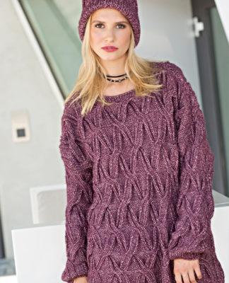 Пуловер свободного кроя спицами с рельефным узором из кос схема вязания спицами с подробным описанием для женщин бесплатно