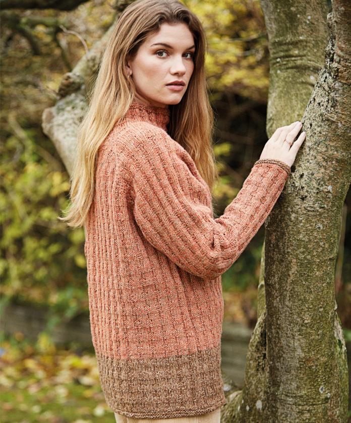 Удлиненный свитер с рукавом реглан спицами схема вязания с подробным описанием