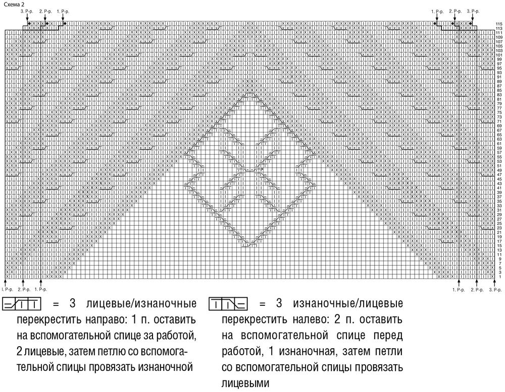 Пуловер с необычным узором из диагональных полос схема вязания