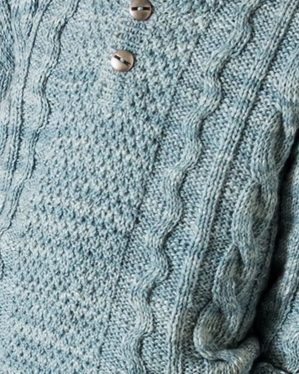 Пуловер для мальчик с узором из кос