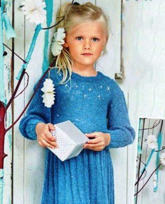 Детское платье спицами с юбкой в складку схема вязания с подробным описанием