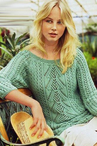 пуловер нежная мята рукавом реглан портал рукоделия и моды