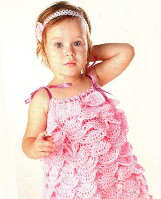 Ажурное вязаное платье крючком схема фото 223