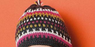 женская шапочка ушанка спицами